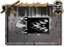"#102 FLAMES Airbrush Stencil Motorcycle  flames 10 mil, 0.010"" thick"