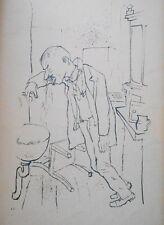 Lithography original - George Grosz - Ecce Homo - Magenbeschwerden - 1923