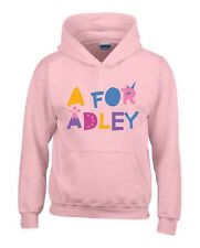 A for Adley Kids Hoodie/Hoody from 1 years to 13 years 2 colour choice