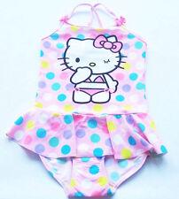 Badeanzug Gr.98 /104 H&M NEU m.E Hello Kitty rosa pink Punkte Rüsche Herzen