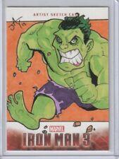 UPPER DECK IRON MAN 3 ARTIST SKETCH CARD THE HULK by Jayson Kretzer