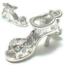 High Heels 3D Charms Sandalette Strass Anhänger Bettelarmband Charm Kette C 351