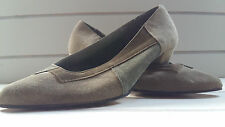 Vintage 1980's Green Suede Shoes by Dolcis. Size 4.
