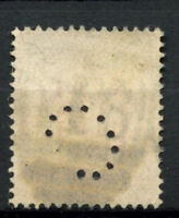 """GB KEVII 1902-13, 1d Red Perfin """"C"""" Used #A61540"""
