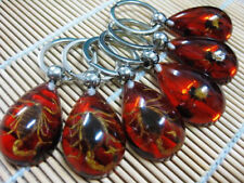 Red Amber Real insect mix Spider Scorpion key chain. ..