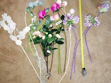 Lot of Artificial Flowers for Millenery, Home Decor, Wedding Bouquets, Crafts