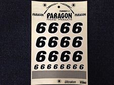 NUMBER DECAL STICKER SHEET for R/C - NUMBER SIX  # 6