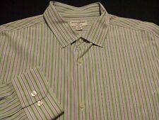 Banana Republic Mens 2XL Long Sleeve Button-Front Multicolor Striped Shirt
