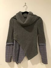 Made in Korea Gray Sweater with Plaid Shirt Lining (no Size)