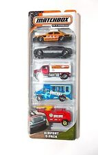 Matchbox Airport 5 Pack Cars Toys 2013 Tanker Taxi Fire Truck Limo Shuttle Bus