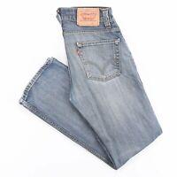 Vintage LEVI'S 506 Blue Denim Regular Straight Jeans Mens W31 L32