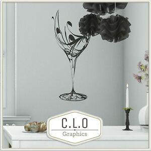 Wine Glass Wall Sticker Vinyl Transfer Dining Room Decor Giant Art Decal Graphic