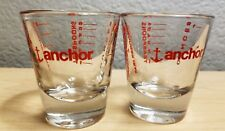 LOT OF 4 ANCHOR HOCKING CLEAR SHOT GLASSES