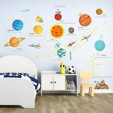 Planets Sun Solar System Space Wall Window Stickers Decals Kids Room Decor