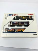 Marklin HO 84564 500 yrs of America tin box cars w/ dbl axle & sliding doors M4