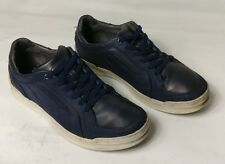 ZARA MAN MENS BLUE WHITE CASUAL LEATHER SUEDE LACE UP SHOES SIZE UK 8 EU 42