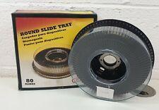 A-P Round Slide Tray  80 SLIDES boxed  vintage Retro