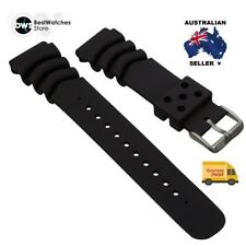 22mm Durable Black Divers Watch Band Strap For SEIKO Z22 Monster + FAT Springbar