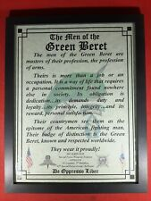 Mc-Nice: Army Special Forces Men of the Green Beret All Grps Framed Personalized