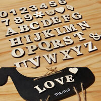 1set English Letters Numbers Wooden Wedding Party Home Paste Decor Crafts DIY FO