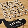 1set anglais lettres numéros en bois mariage maison pâte Decor artisanat DIY SPF