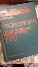 Chilton's Professional Labor Guide & Parts Manual 1978