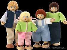 Voila Toy childrens wooden bendable flexible DOLL FAMILY pretend play BRAND NEW