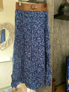 Peacocks Ladies Long Summer Skirt. Size 12
