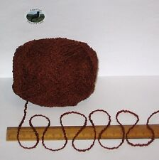 100g Rich Brown Boucle 100% Pure British Breed Wool double knitting dk yarn E808