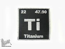 ill Gear Black Titanium Patch Atom Periodic Table of Element Ti 2X2