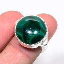 Jewelry Ring s.6 Ur335-11 Russian Malachite 925 Sterling Silver