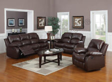 VALENCIA  3+2+1 SEATER LEATHER RECLINER SOFAS BLACK BROWN CREAM LAZYBOY SOFA SET