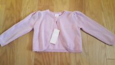 New Gymboree Pups & Bunnies Line Pink Sparkle Cardigan Sweater Size 18-24M NWT