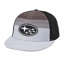 SUBARU Black and White Flatbill Cap Legacy Forester Impreza Outback Sti Wrx Hat
