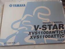 Yamaha XVS1100AWT(C)  XVS1100ATT(C) Motorcycle Owner's Manual V-STAR $14.00