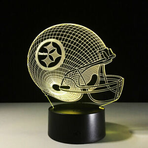 Pittsburgh Steelers LED Light Lamp Collectible Ben Roethlisberger Gift Decor