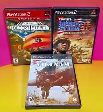 Conflict: Desert Storm 1, 2, + Vietnam - 3 Game War Bundle PS2 Playstation 2