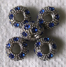 """5 15 Strass Blanc Plaqué Or """"Bling"""" charms"""