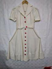 ancienne belle robe après guerre 1948 blanche / 134