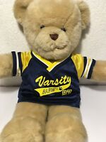Build A Bear Christmas Varsity Jersey Shirt Blue Yellow Clothes BABW