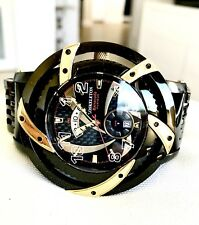 XO SKELETON BARRACUDA FURIOUS 904L STAINLESS  STEEL MENS GMT WATCH..VERY RARE...