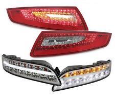 LED RÜCKLEUCHTEN ROT KLAR + LED FRONTBLINKER PORSCHE 911 997 04-08 KOMPLETT-SET