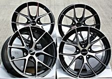 """ALLOY WHEELS 19"""" CRUIZE GTO BP BLACK POLISHED STAGGERED CONCAVE 5X120 19 INCH"""