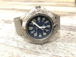 BREITLING COLT 37mm Quartz Datum Edelstahl Band Blau A57035