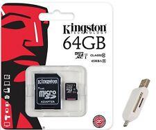 Kingston 64GB microSD SD SDXC 45MB/s U1 C10 64G microSDXC SDC10G2/64GB +T05 USB