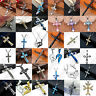 Unisex's Stainless Steel Gold Silver Black Cross Pendant Chain Necklace Jewelry