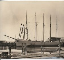 Large 1920 Photo Haviside Masted Ship Outfitting Dock of SF at Seattle WA (9)