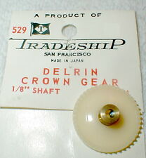 """40 Tooth CROWN Gear DELRIN Tradeship #528 Set Screw type  48 pitch 1/8"""" axle NOS"""