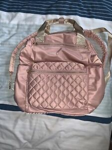 BNWOT Pink And Gold Claires Accessories Nylon Backpack