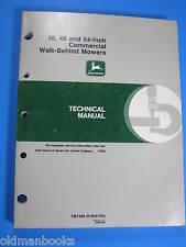 John Deere 38 48 54 Inch Commercial Walk-Behind Mower Technical Manual TM1488